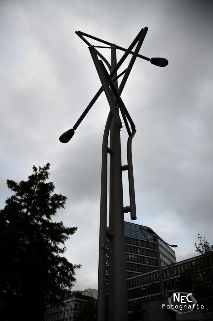 Laterne in der Hafencity bei Hamburg