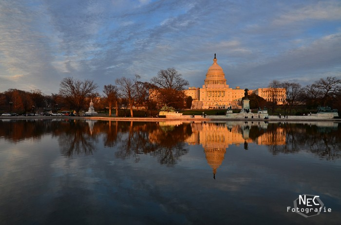 Capitol Washington DC Sonnenuntergang