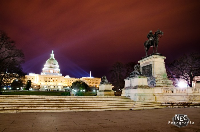 Capitol Washington DC bei Nacht