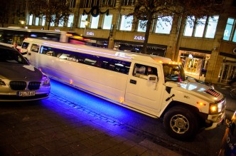 Limousine vor dem Privileg Club in Hamburg