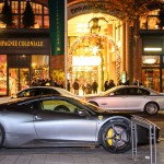 Ferrari vor dem Privileg Club in Hamburg