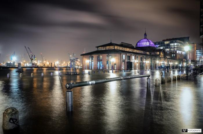 Hamburg Fischmarkt Sturmflut Nacht