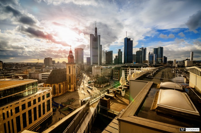 Frankfurt Skyline Sun