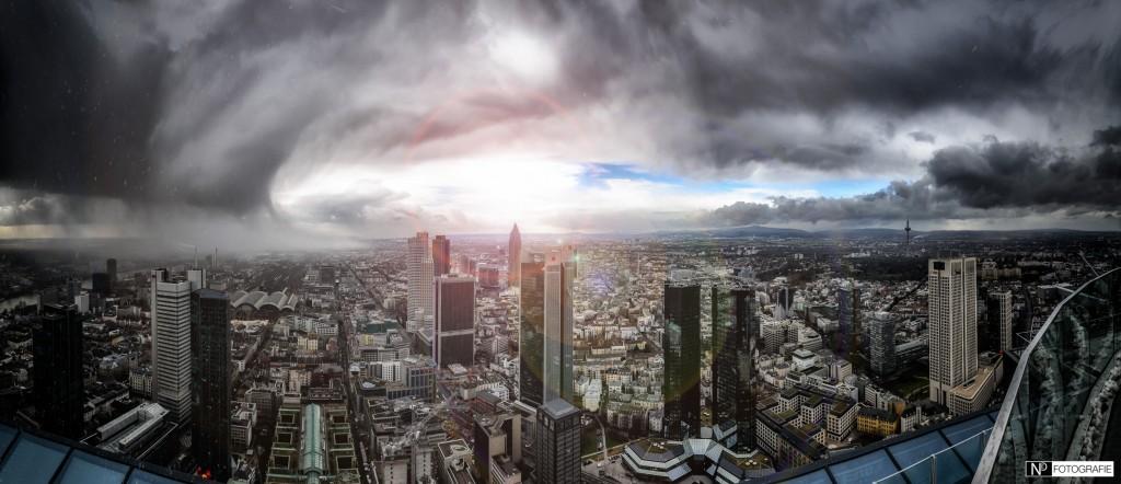 Frankfurt Cloudy storm