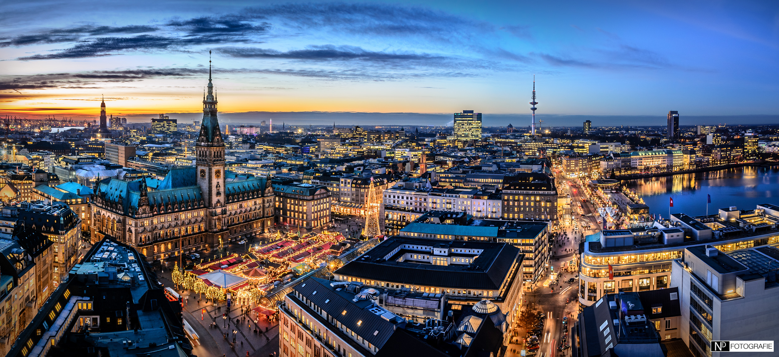 Hamburg Skyline Panorama