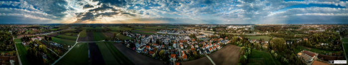 Karlsfeld-Luftaufnahme-Panorama