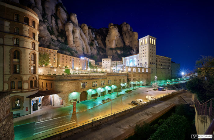 montserrat spain by night